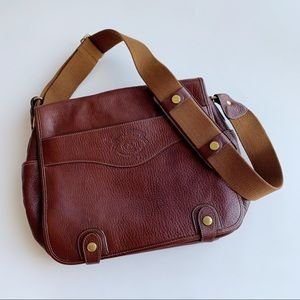 Ghurka No. 220 Convoy Brown Leather Messenger Bag